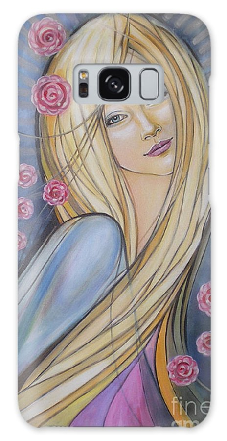 Female Galaxy S8 Case featuring the painting Sun And Roses 081008 by Selena Boron