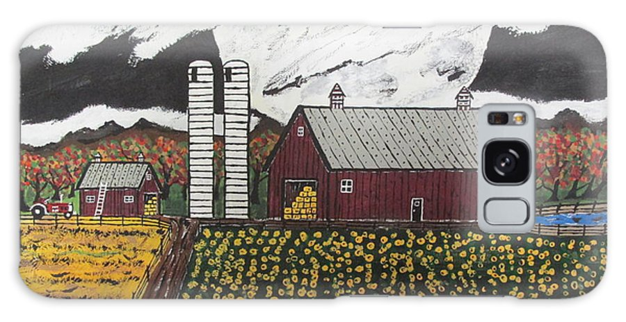 Galaxy S8 Case featuring the painting Sun Flower Farm by Jeffrey Koss