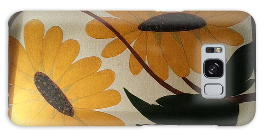 Sun Flowers With Leaves Galaxy S8 Case featuring the painting Sun Flower by Ramroop Yadav