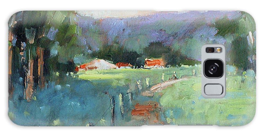 Texas Galaxy Case featuring the painting Sun Struck Farm by Joyce Hicks