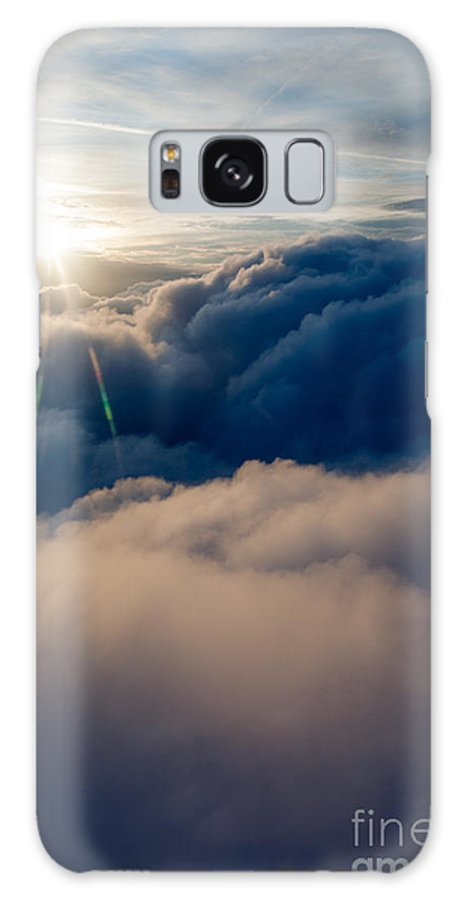 Above Galaxy S8 Case featuring the photograph Sunburst Above The Clouds by Peter Noyce