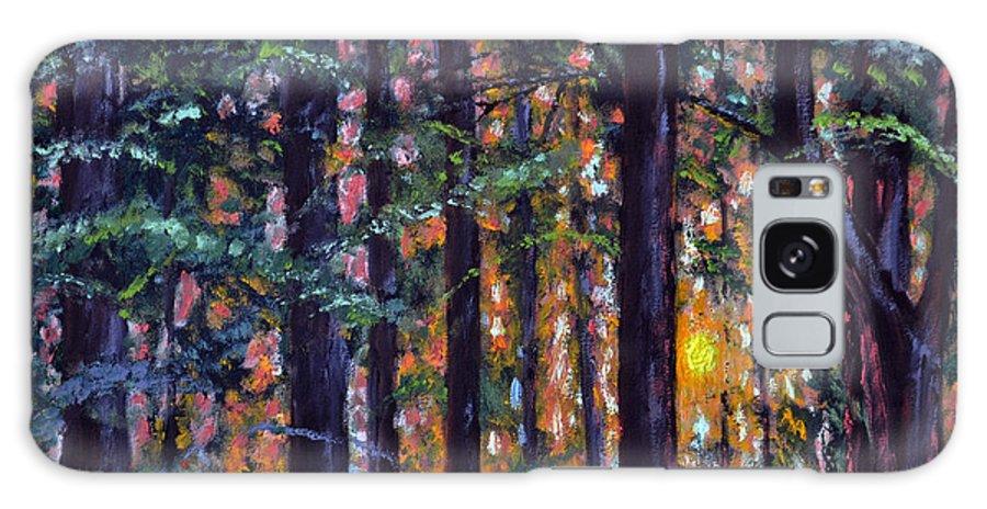 Sundown Galaxy S8 Case featuring the painting Sundown In Woods by Stan Hamilton