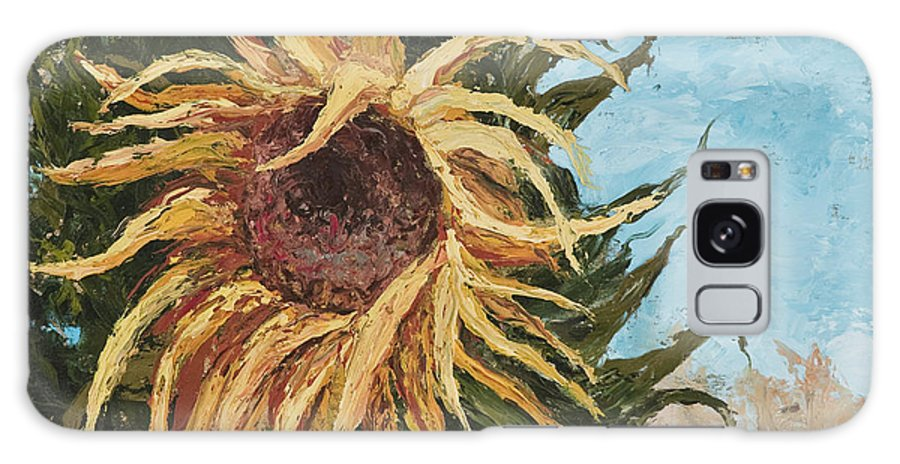 Sunflower Galaxy S8 Case featuring the painting Sunflower by Darice Machel McGuire