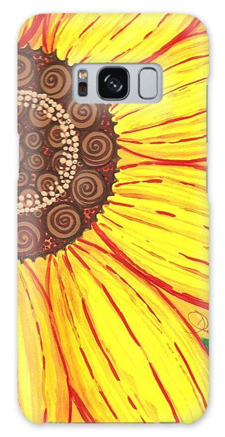 Floral Galaxy S8 Case featuring the painting Sunflower by Debralyn Skidmore