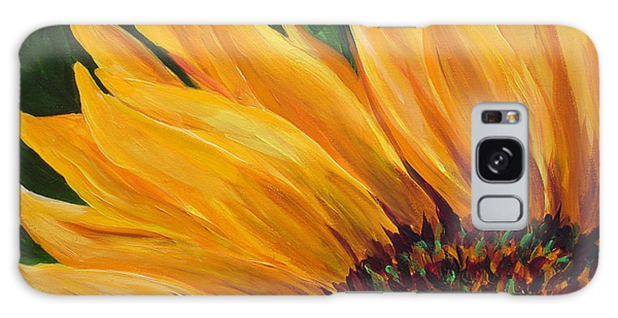 Flowers Galaxy S8 Case featuring the painting Sunflower From Summer by Mary Jo Zorad