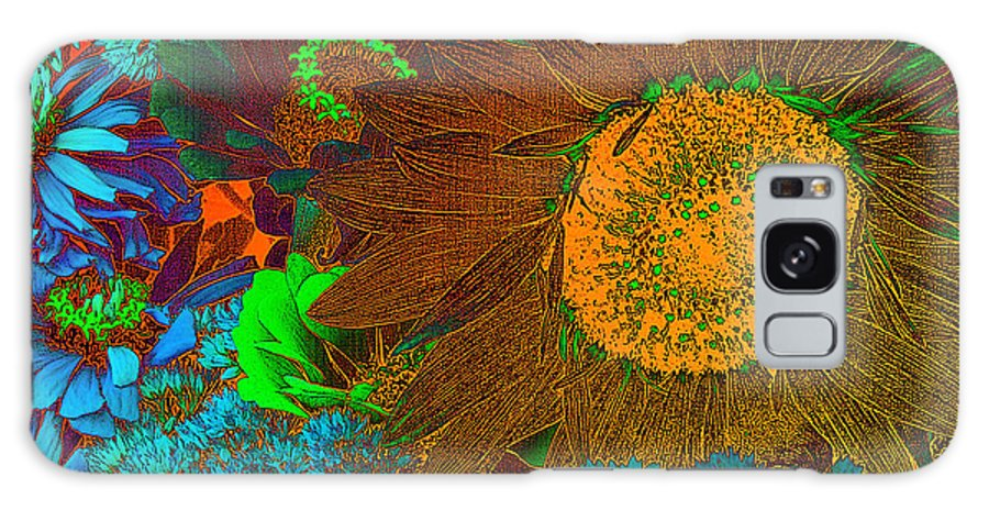Sunflower Galaxy S8 Case featuring the photograph Sunflower In Brown by David Pantuso