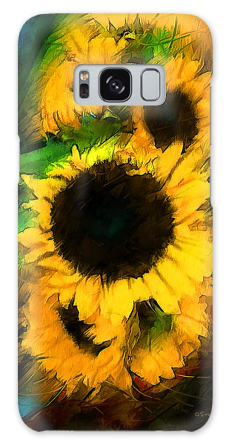 Paintings Galaxy S8 Case featuring the painting Sunflower In Motion by Don Steve