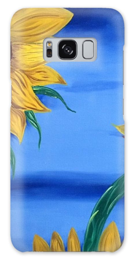 Galaxy S8 Case featuring the painting Sunflowers by David Cotton