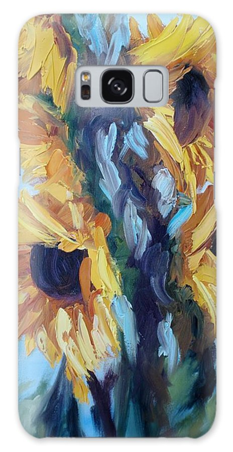Sunflowers Galaxy S8 Case featuring the painting Sunflowers II by Donna Tuten