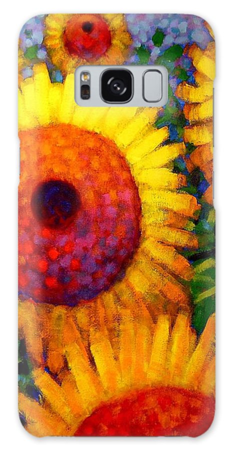 Flowers Galaxy S8 Case featuring the painting Sunflowers by John Nolan