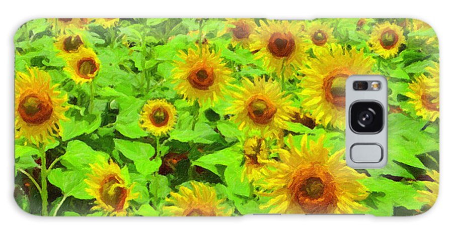 Safran Fine Art Galaxy S8 Case featuring the painting Sunflowers by Safran Fine Art