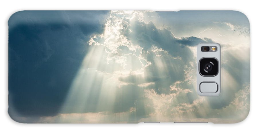 Sunlight Through The Clouds Photograph Galaxy S8 Case featuring the photograph Sunlight Through The Clouds by Terri Morris