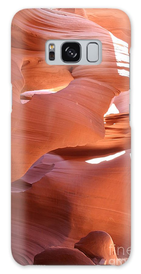 Canyon Galaxy S8 Case featuring the photograph Sunlit Canyon by Christiane Schulze Art And Photography