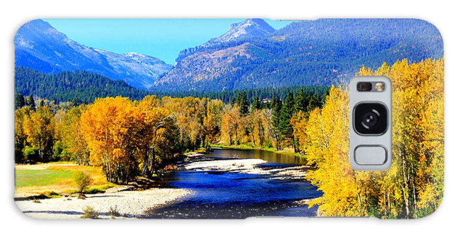 Bitterroot Galaxy S8 Case featuring the photograph Sunny Autumn Day On A Montana River by John Cole