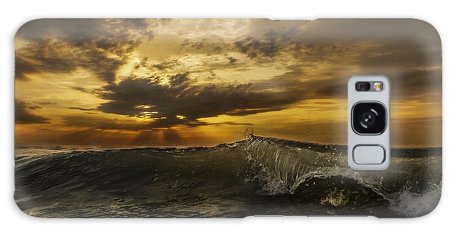 Clear Wave Galaxy S8 Case featuring the photograph Sunrise Clear Wave by Island Sunrise and Sunsets Pieter Jordaan