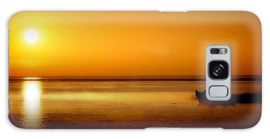 June 2007 Cross Grain Galaxy S8 Case featuring the photograph Sunrise Fishing by Tim Bjerk