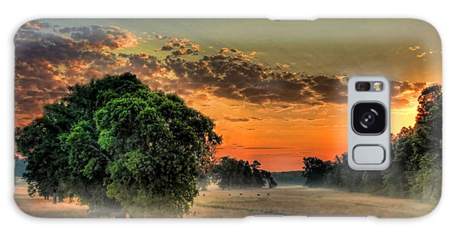 Sunrise Galaxy S8 Case featuring the photograph Sunrise Fog by Reid Callaway