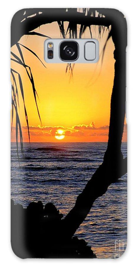 Seascape Galaxy S8 Case featuring the photograph Sunrise Fuji Beach Kauai by Mary Deal