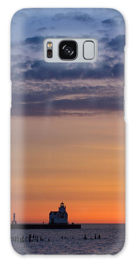 Lighthouse Galaxy S8 Case featuring the photograph Sunrise Genesis by Bill Pevlor