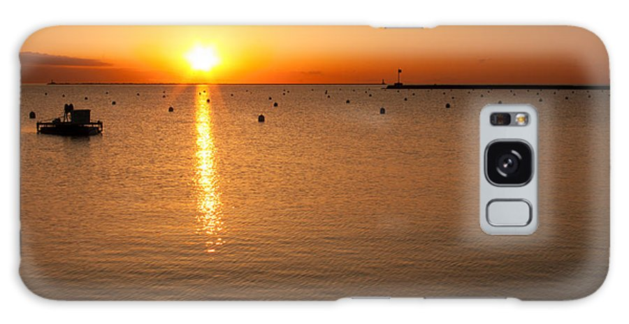 Holiday Galaxy S8 Case featuring the photograph Sunrise Over Lake Michigan by Semmick Photo