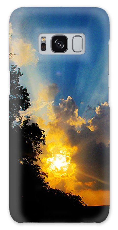 Landscape Galaxy S8 Case featuring the photograph Sunrise The Old Fashioned Way by Ron Tackett