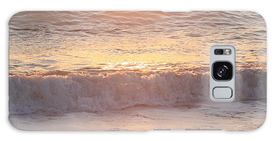 Waves Galaxy Case featuring the photograph Sunrise Waves by Nadine Rippelmeyer
