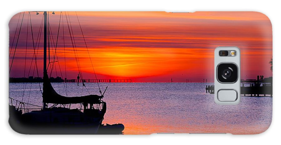 Bay Galaxy S8 Case featuring the photograph Sunset @ Galveston Bay by Trisha Anderson