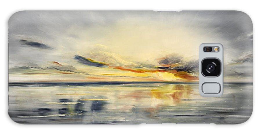 Sunset Galaxy S8 Case featuring the painting Sunset 384 Panoramic by Gina De Gorna