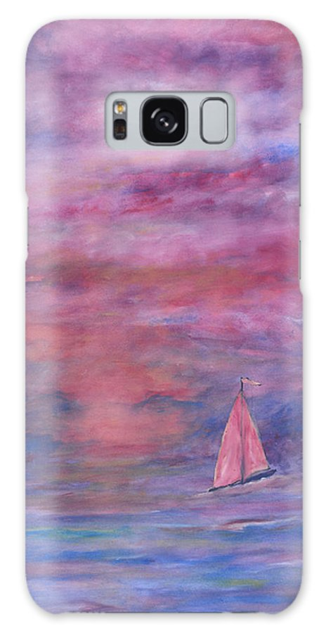 Saling Galaxy Case featuring the painting Sunset Adventure by Ben Kiger