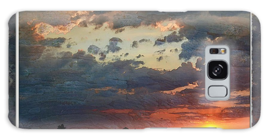Nature Galaxy S8 Case featuring the photograph Sunset After A Thunderstorm Photoart by Debbie Portwood