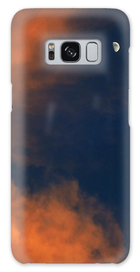 Sunset Galaxy S8 Case featuring the photograph Sunset And Crescent Moon Cloud Series 20 by Bill Marder