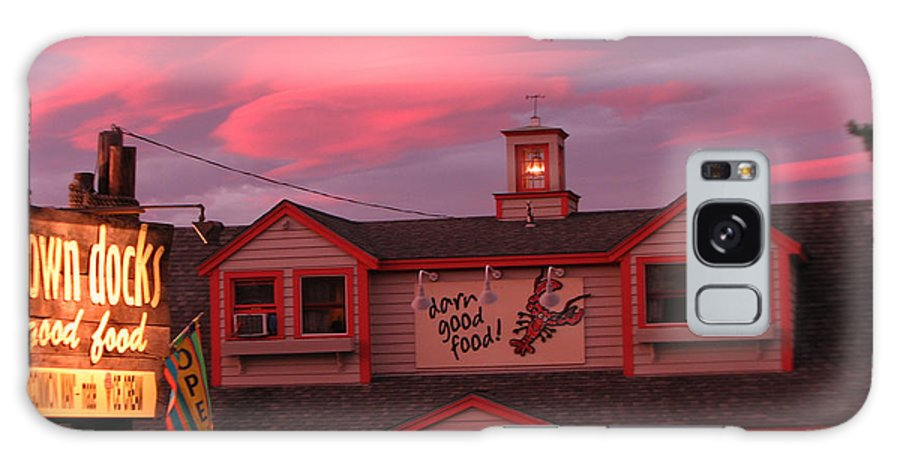 Meredith Nh Galaxy S8 Case featuring the photograph Sunset And Good Food by Michael Mooney