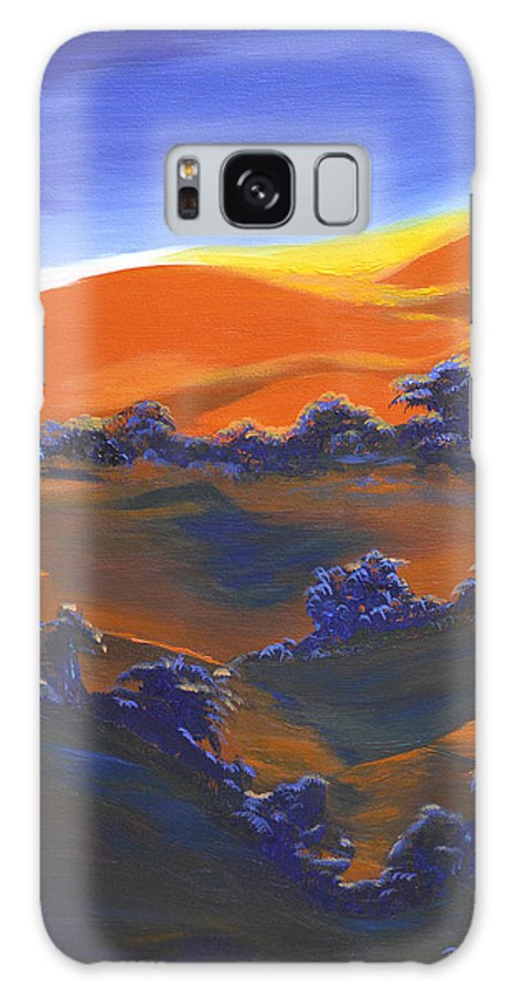 Sunset Galaxy S8 Case featuring the painting Sunset And Shadow by Donna Blackhall