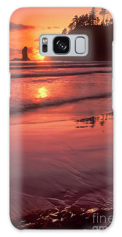 North America Galaxy S8 Case featuring the photograph Sunset At Second Beach Olympic National Park by Dave Welling