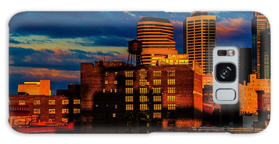 Galaxy S8 Case featuring the photograph Sunset Behind Target Field by Nick Peters