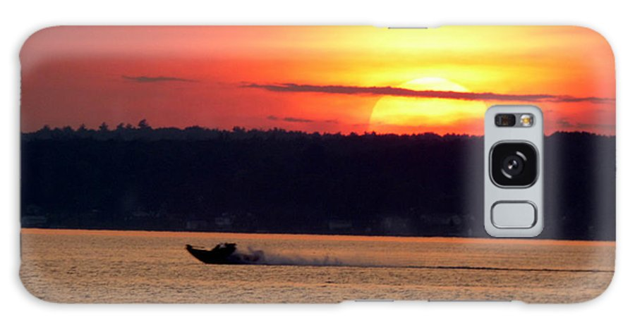 Landscape Galaxy Case featuring the photograph Sunset Boat Ride by Rennae Christman