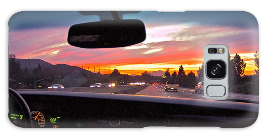 Car. Sunset Drive Galaxy S8 Case featuring the photograph Sunset Drive by Sue Turner-Cray