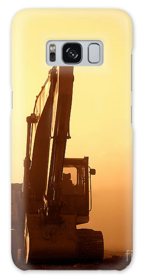 Excavator Galaxy S8 Case featuring the photograph Sunset Excavator by Olivier Le Queinec