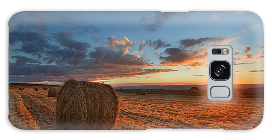 Sunset Galaxy S8 Case featuring the photograph Sunset Hay by Des Jacobs