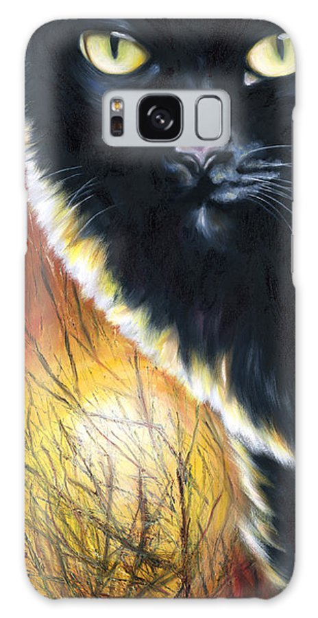 Cat Galaxy S8 Case featuring the painting Sunset by Hiroko Sakai