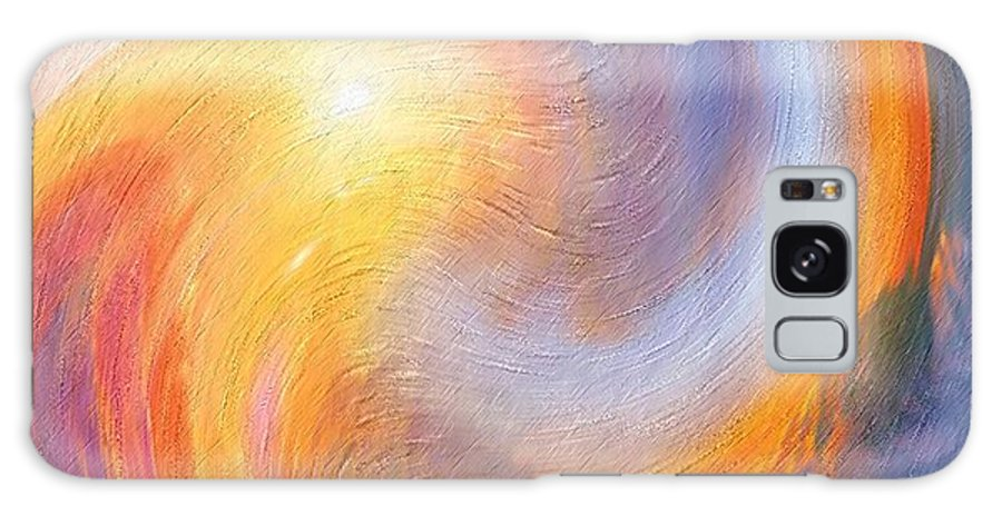 Sunset Galaxy S8 Case featuring the digital art Sunset Illusions by Sara Raber