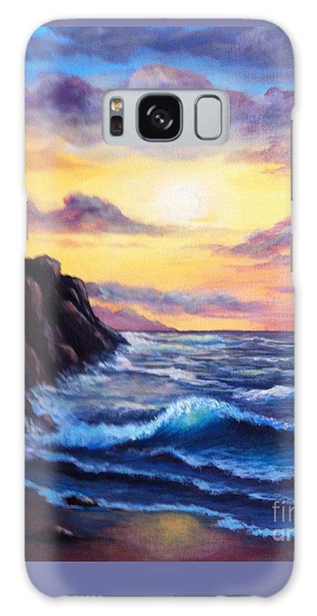 Rocks Galaxy S8 Case featuring the painting Sunset In Colors by Bozena Zajaczkowska