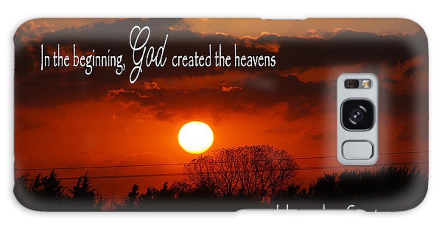 Catholic Galaxy S8 Case featuring the photograph Sunset In The Beginning by Robyn Stacey