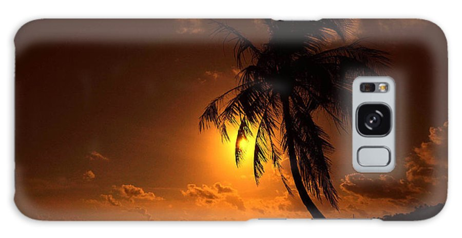 Palm Galaxy S8 Case featuring the photograph Sunset In The South Pacific by Jim Southwell