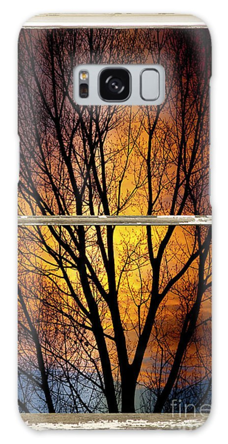 Window Galaxy S8 Case featuring the photograph Sunset Into The Night Window View 3 by James BO Insogna