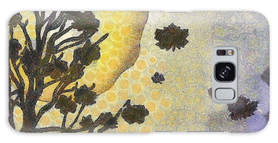 Autumn Galaxy S8 Case featuring the painting Sunset by Kvetoslava Stikovcova