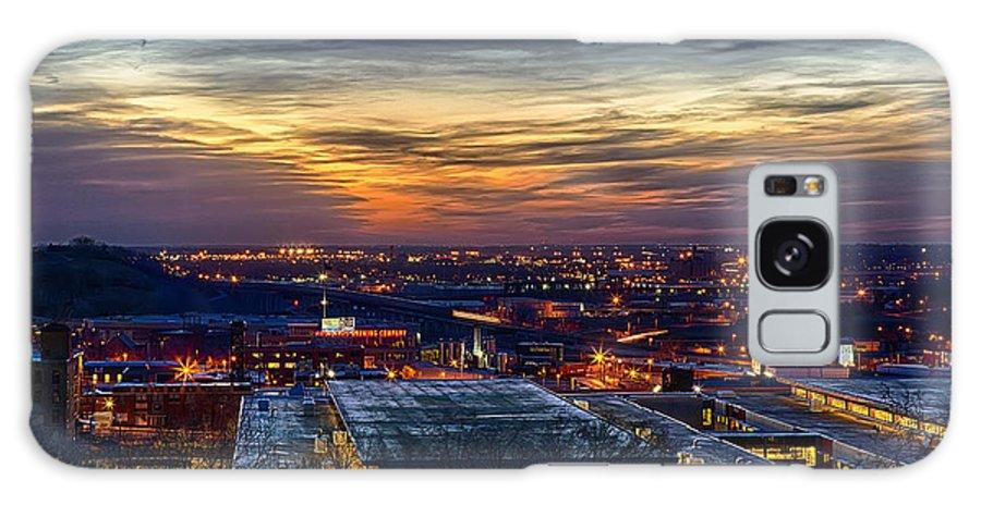 Kansas City Galaxy S8 Case featuring the photograph Sunset Metro Lights And Splendor by Sennie Pierson