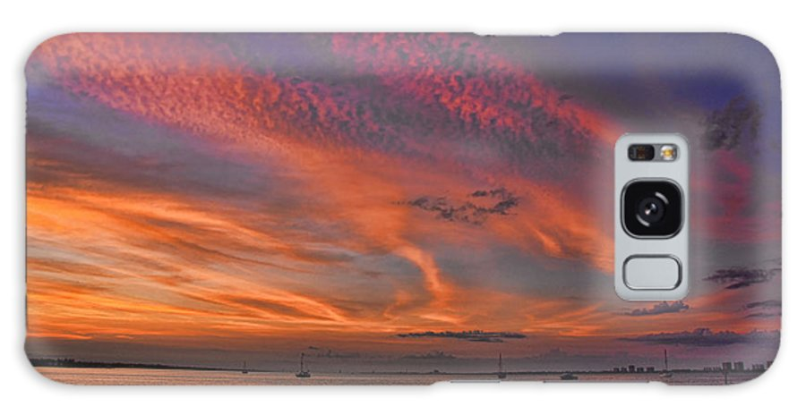 Sunsets. Florida Galaxy S8 Case featuring the photograph Sunset On The Causeway by Brian Metski
