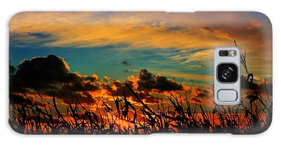 Sun Galaxy S8 Case featuring the photograph Sunset On The Corn by Miss Judith