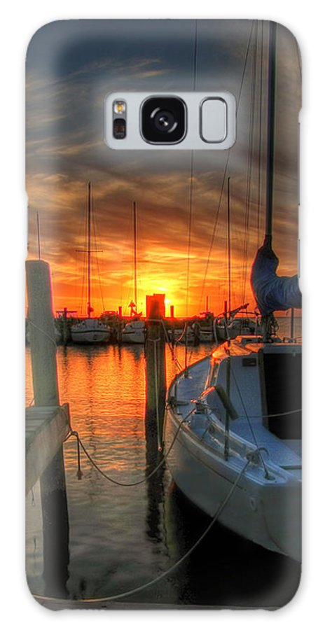 Digital Art Galaxy S8 Case featuring the photograph Sunset On The Outter Banks by Neal Blizzard